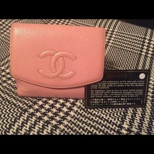 CHANEL  COCO Bifold Pink Wallet  Coin purse